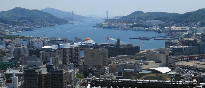 2017年の長崎港