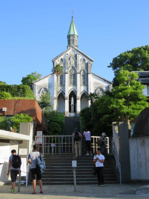 オランダ坂界隈の大浦天主堂